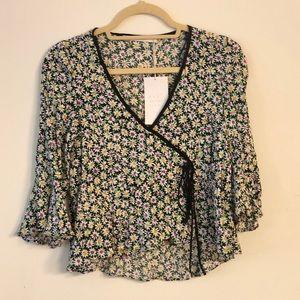 NWT Zara Daisy Print Kimono Top